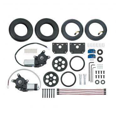 Motor Mount & Wheel Kit - Molded Plastic