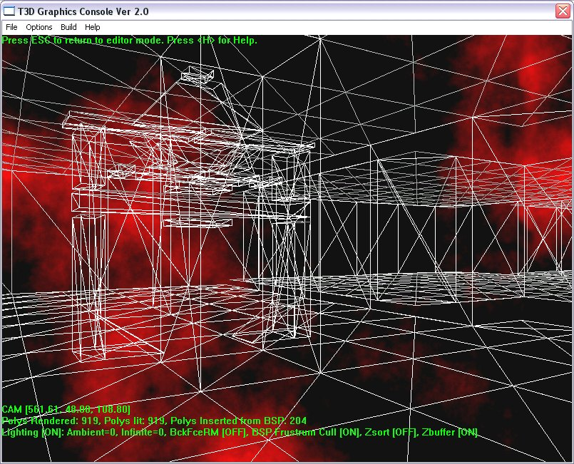 Tricks of the 3D Game Programming Gurus-Advanced 3D Graphics and Rasterization (Other Sams) - Wireframe View from BSP Tree Demo.