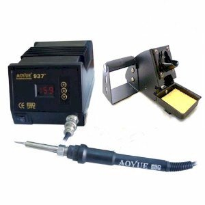 Aoyue 937+ Digital Soldering Station - The full kit.