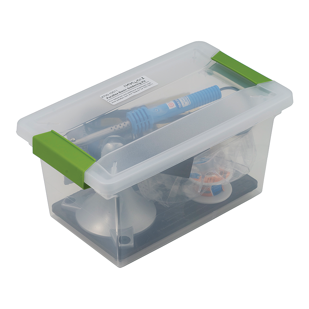 Parallax Basic Soldering Tool Kit - storage case.