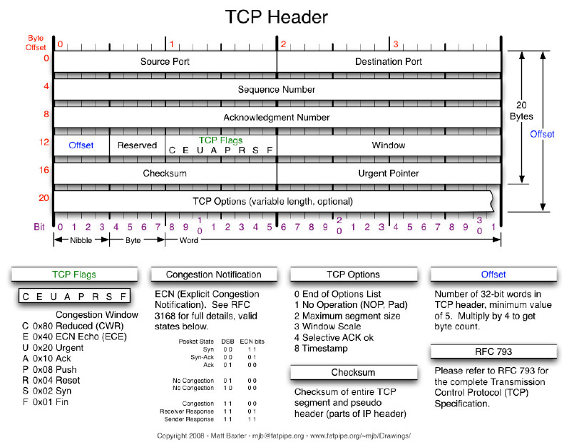 HYDRA EtherX TCP header specification.