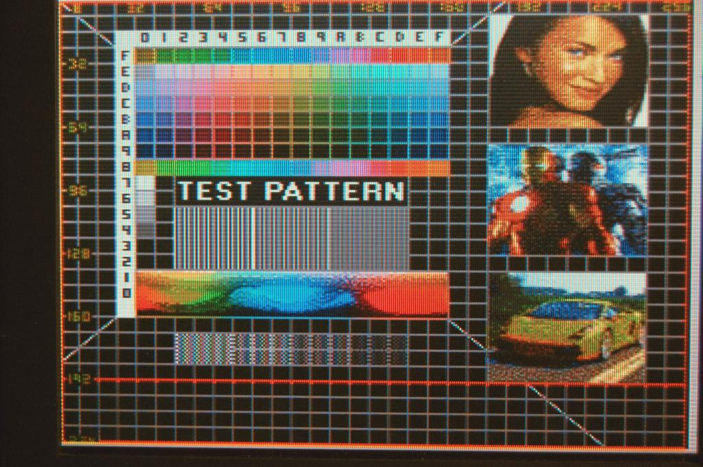 The C3 Synapse Test Pattern on a 256x224 screen resolution.