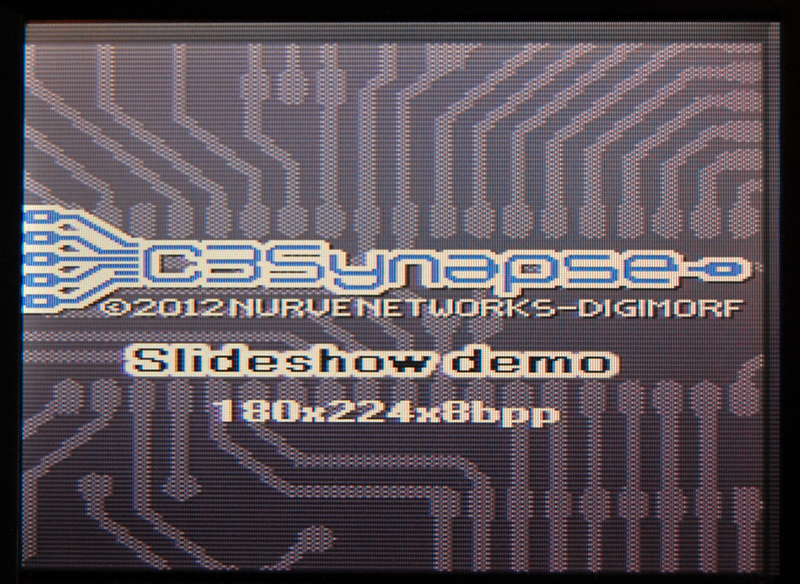 The C3 Synapse Slideshow demo - Title screen.