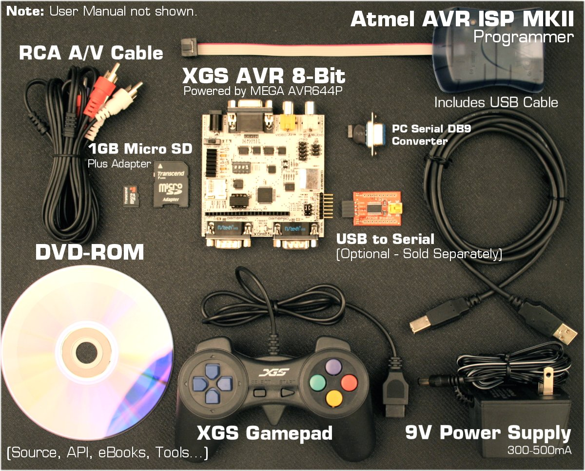 Xgs Avr 8 Bit Development System Professional Experiment Board Usb Isp Programmer Circuit Sprint The Complete Kit Manual Not Shown