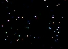 3D Starfield demo, uses bitmap graphics mode.