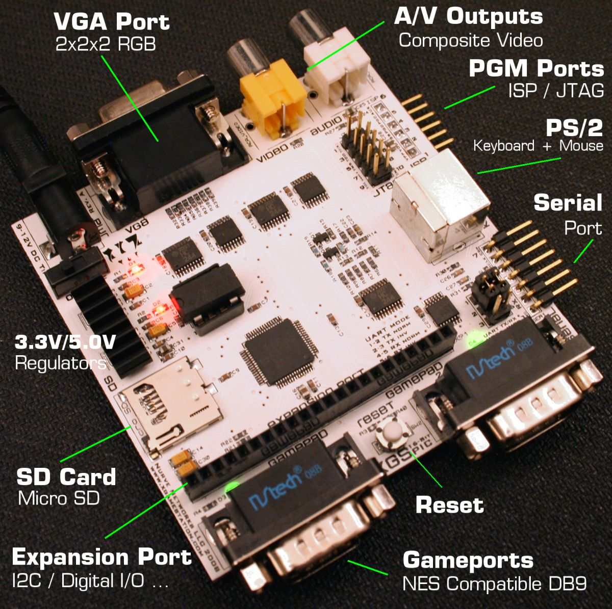Xgs Pic 16 Bit Development System Professional Avr Experiment Board Usb Isp Programmer Circuit Sprint Main Annotated