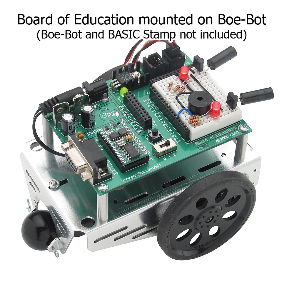 Boe-Bot Robot with Infra Red Assembled View.