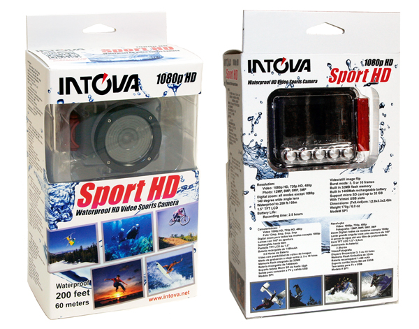 Intova Sport HD Camera - Packaging.